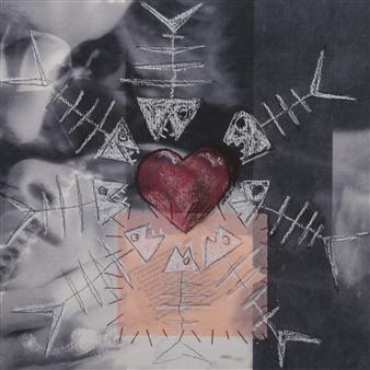 "heART of Woman Acrylic & Mixed Media on Paper 11"" x 11"""