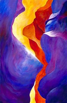 "Antelope Canyon 2 Acrylic on Canvas 30"" x 20"""