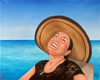 """Happiness Oil on Canvas 16"""" x 20"""""""