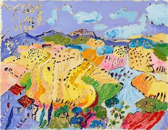 "View Toward Pienza Oil on Canvas 28"" x 35.5"""
