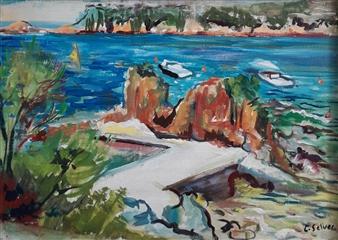 """Marina Oil on Canvas 9"""" x 11"""""""