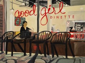 "Good Girl Dinette Oil on Canvas 18"" x 24"""