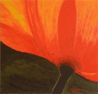 "Alegría  (Joy) Oil on Wood 10"" x 10"""