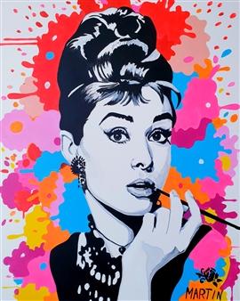 """Audrey Hepburn Acrylic on Canvas 39.5"""" x 31.5"""""""