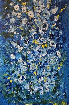 "Under Sea Flower Dream Acrylic on Canvas 60"" x 36"""