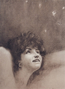 """Whimsy Charcoal on Paper 22"""" x 18"""""""