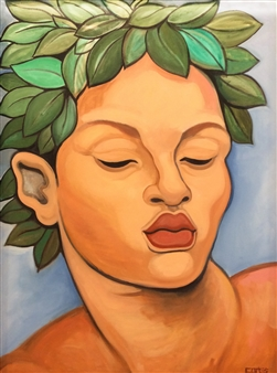 "Laurel Oil on Canvas 43"" x 33"""