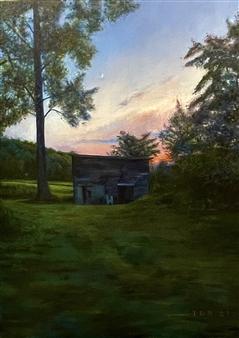 "Catskills Barn Oil on Canvas 48"" x 36"""
