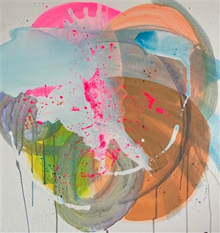 """Sunrise Acrylic on Canvas 31.5"""" x 31.5"""""""