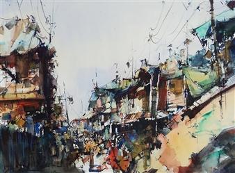 """Suburbio Watercolor 20"""" x 27.5"""""""