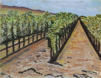 "Calistoga 2 Pastel on Canvas 16.5"" x 13"""
