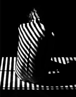 "Stripes II Silver Gelatin Print 35.5"" x 23.5"""