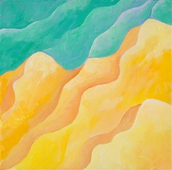 "Erosion Acrylic on Canvas 8"" x 8"""