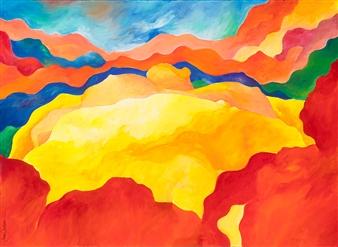 "Pregnant Hills Acrylic on Canvas 22"" x 30"""
