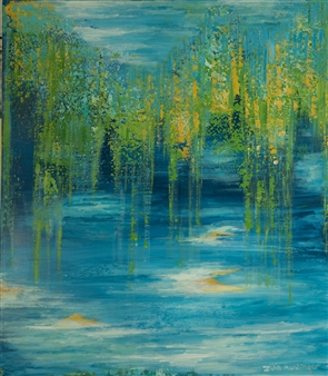 """Tribute to Monet Mixed Media on Canvas 63"""" x 55"""""""