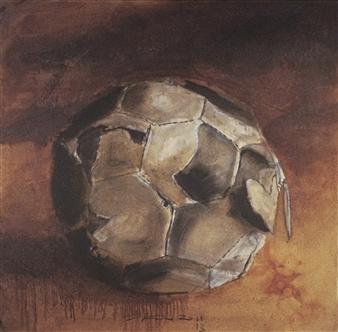 "Pelada Oil on Canvas 63"" x 63"""