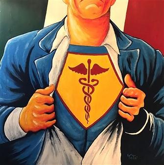 """Doctor Clark Acrylic on Canvas 23.5"""" x 23.5"""""""
