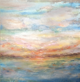 "Calm Amidst The Chaos Oil on Canvas 30"" x 30"""
