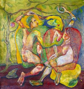 """El Eden Acrylic on Canvas 50"""" x 40"""""""