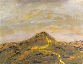 "Untitled Landscape Acrylic on Canvas 16"" x 20"""