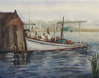 """Miss Darlene Watercolor on Paper 20"""" x 26"""""""