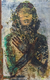"""Prayer Mixed Media on Watercolor Paper 40"""" x 26"""""""