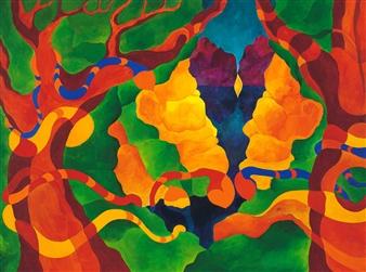 "Madrone Grove Acrylic on Canvas 36"" x 48"""