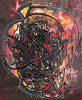 """Veracious Scion Acrylic & Spraypaint on Canvas 39.5"""" x 31.5"""""""