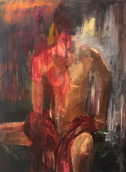"""Wrapped In Red Robe Oil on Canvas 48"""" x 36"""""""