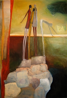 """Rising Beyond the Body Oil on Canvas 47"""" x 31"""""""