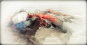 "Horse Power Photograph on Plexiglass 23"" x 44"""