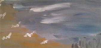 """Seaside Acrylic on Canvas 6"""" x 12"""""""