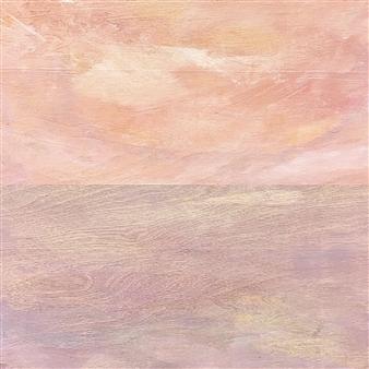 "A Calm Air Descended  (A Calm Air Ascended) Acrylic on Wood Panel 24"" x 24"""