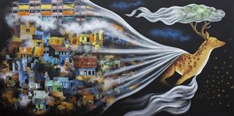 """Utopia Acrylic on Canvas 48"""" x 96"""""""