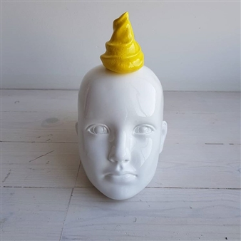 Yellow Ice Cream on the Head