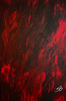 "Inferno Acrylic on Canvas 36"" x 24"""