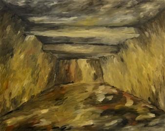 "Gass Chamber Auschwitz 1 Oil on Canvas 31.5"" x 39.5"""