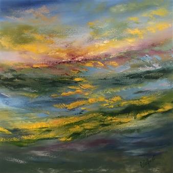 """Action Awaits Oil on Canvas 30"""" x 30"""""""