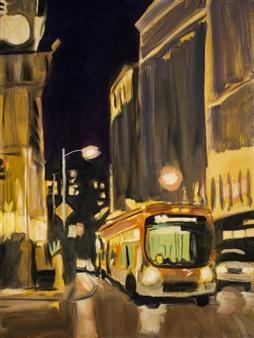 "Night Bus Oil on Canvas 48"" x 36"""