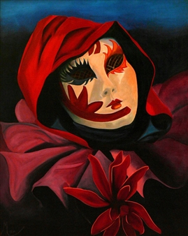"""Harlequin Oil on Canvas 33"""" x 27.5"""""""