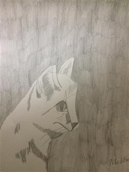 "Snowy Graphite on Paper 12"" x 9"""