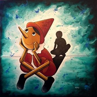 """The Dream Acrylic on Canvas 23.5"""" x 23.5"""""""