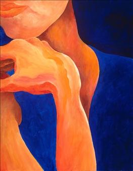 "Pensive Acrylic on Canvas 28"" x 22"""
