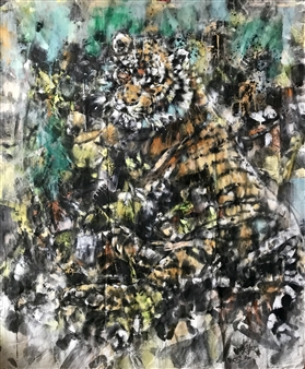 """Camouflage Gouache & Ink on Paper 57.5"""" x 48.5"""""""