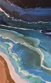 "Adrift Acrylic on Canvas 32"" x 18"""