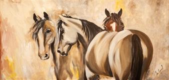 """Untitled #8 Oil on Wood 24"""" x 48"""""""