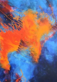 "Sound of Music 3 Acrylic on Canvas 39.5"" x 28"""