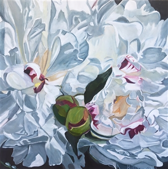 Waterdrops on Peonies 'Natalie'