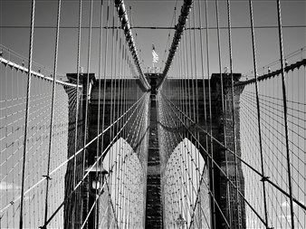 "NYC Brooklyn Bridge Silver Gelatin Print 23.5"" x 35.5"""