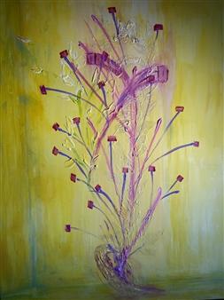 "Yellow Room Acrylic on Canvas 48"" x 36"""